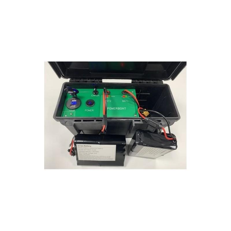 POWERBOAT cargador PORTATIL baterías barco cebador Carpio C3