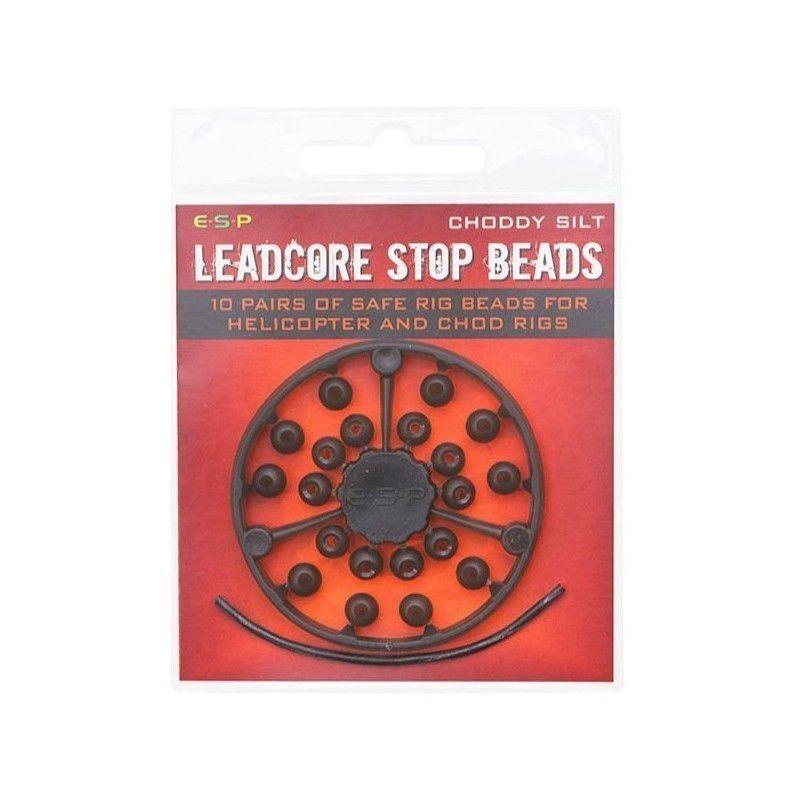 E.S.P. Perlas tope Para leadcore Marrones 20unid (stop beads )