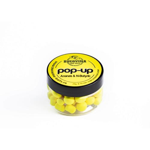 Bucovina Carp Baits - Pop Up Pineapple + N'Butyric 14mm