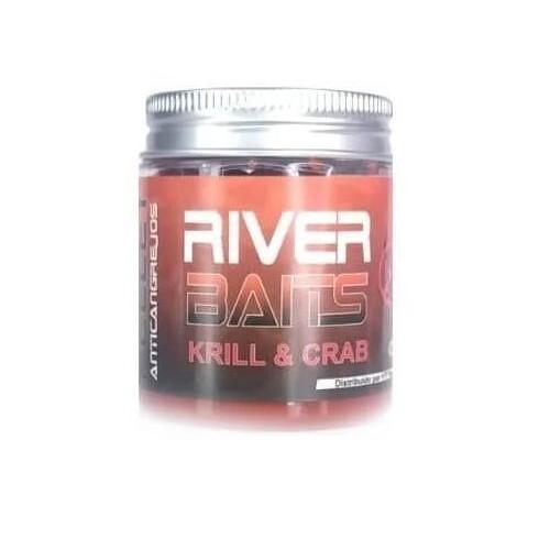 HTF River Baits Hook Pellets artificial Krill&crab con liquido