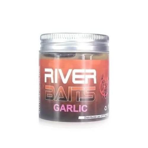 HTF River Baits Hook Pellets artificial GARLIC (AJO) con liquido