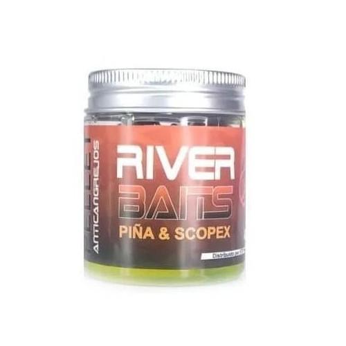 HTF River Baits Hook Pellets artificialPIÑA&SCOPEX con liquido