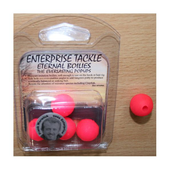 Enterprise Eternal Boilies 12mm fluro rojo flotante( 8 unid)
