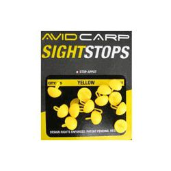 Avid Carp Topes Amarillos Cortos( Avid Sight Stop yellow short)