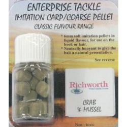 Enterprise crab&mussel pellet richworth 6mm 12uds