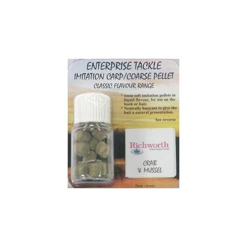 Enterprise crab&mussel pellet richworth 6mm 12uds