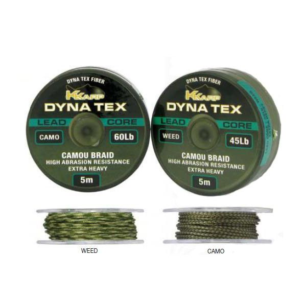 Kkarp Dynatex Lead Core Weed (verde)Braid 60Lbs 5 m.