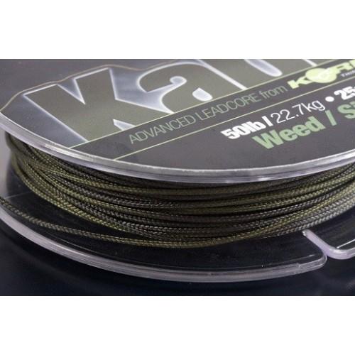 Korda Leadcore KABLE  50lb/22.7kg 25mm verde-gris (novedad 2011)