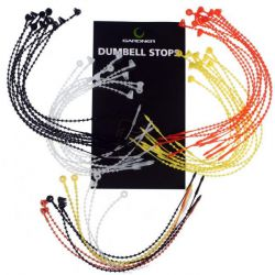 Gardner Tackle Dumbel stops Color Negro 10 Tiras