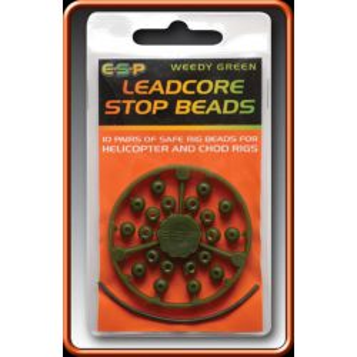 E.S.P. Perlas tope Para leadcore Verdes 20unid (stop beads )