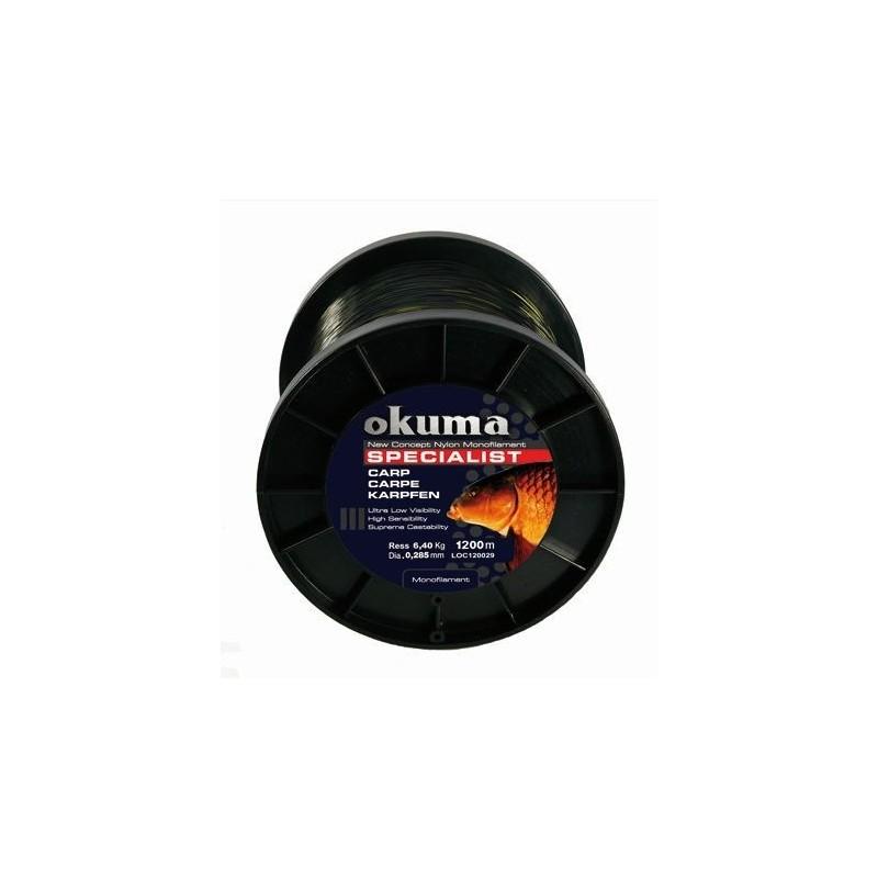 Okuma Nylon specialist carp 1200m 0.37mm 10.9kg