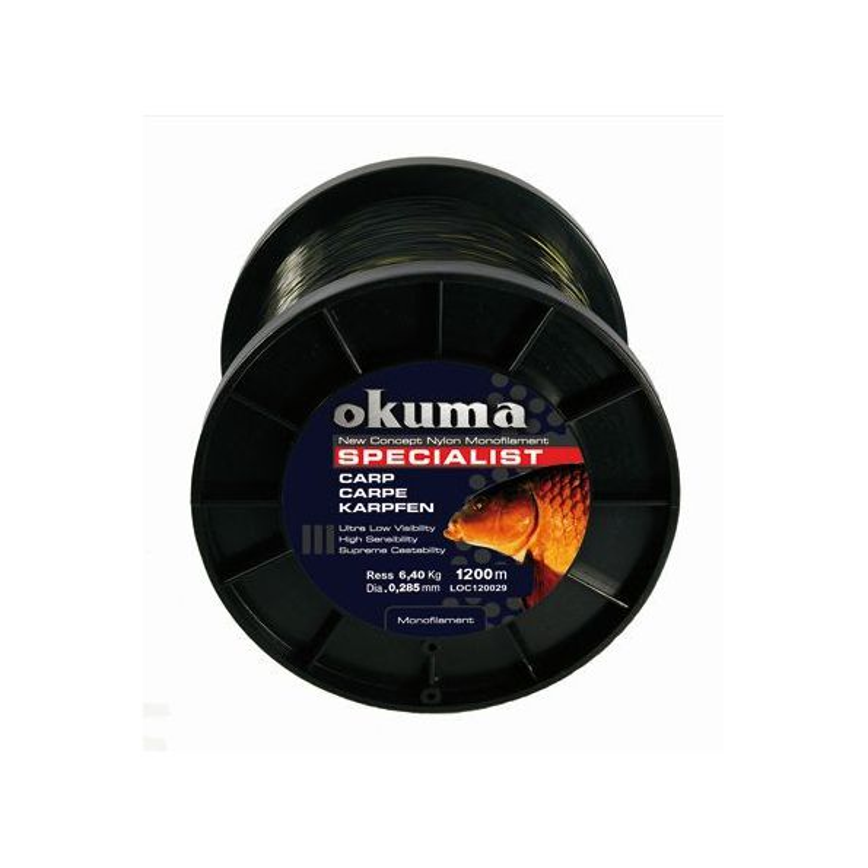 Okuma Nylon specialist carp 1200m 0.34mm 8.71kgkg