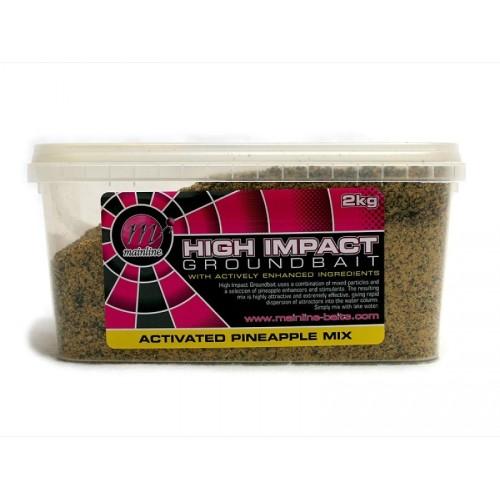Mainline High Impact Pineapple Groundbait Cubo 2kg (engodo piña)
