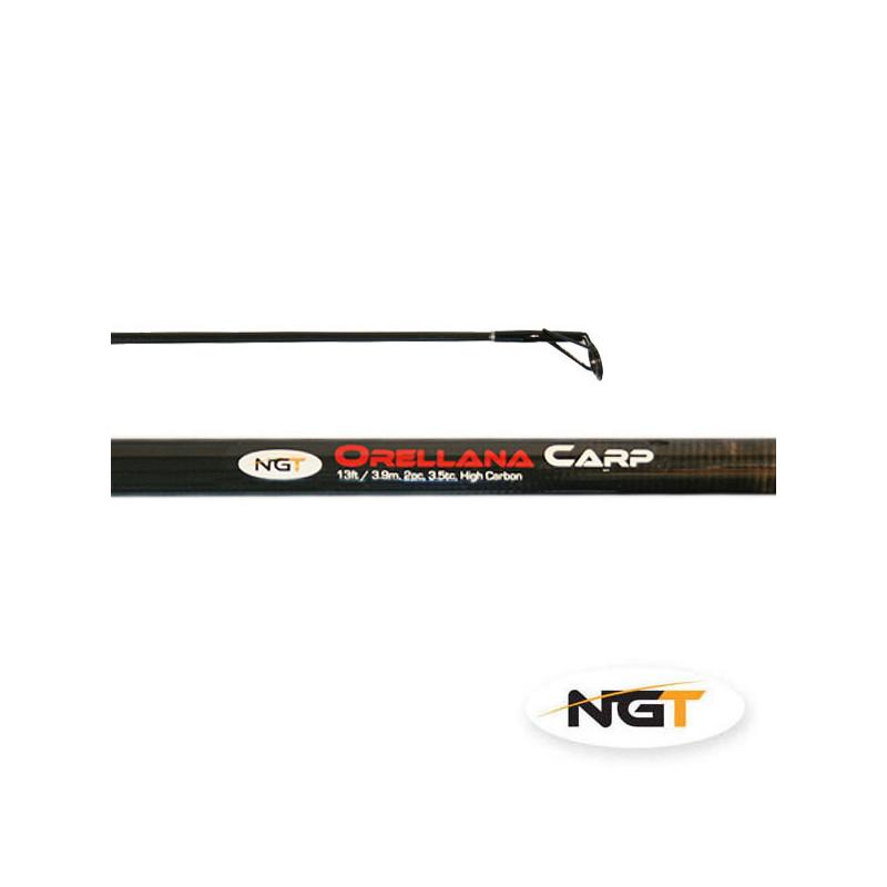 NGT Caña ORELLANA CARP - 3,90m, 2pc, 3.5lb tc Carbono