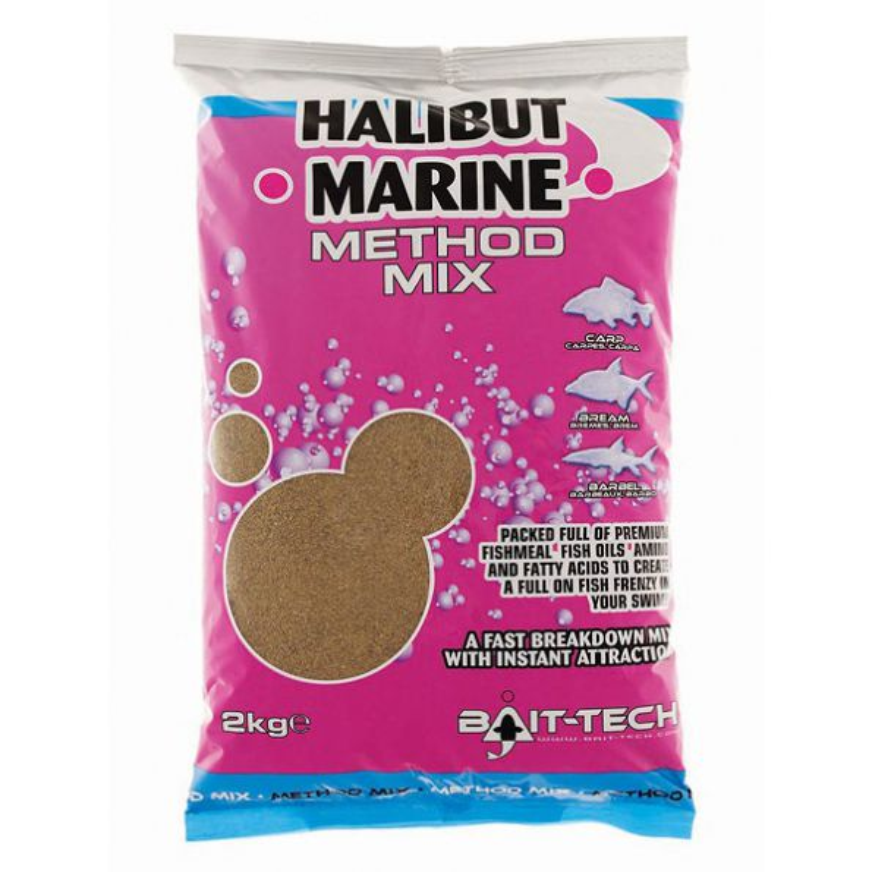 Bait-tech Engodo 2kg Halibut Marine Method Mix