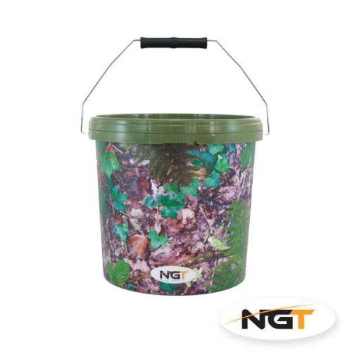 NGT Cubo de 5 L. Color camuflaje con asa de metal