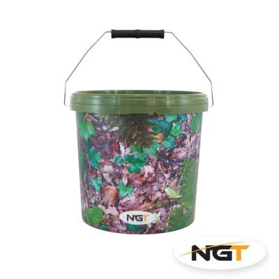 NGT Cubo 10 litros Camo Bucket con asa de metal