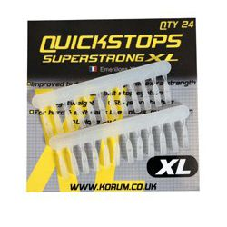 Korum Topes XL Quickstops 24unid Transparentes