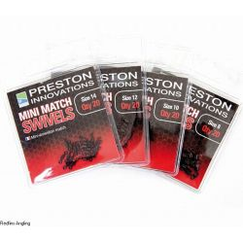 Preston Mini Emerillones nº8 (mini match swivels)