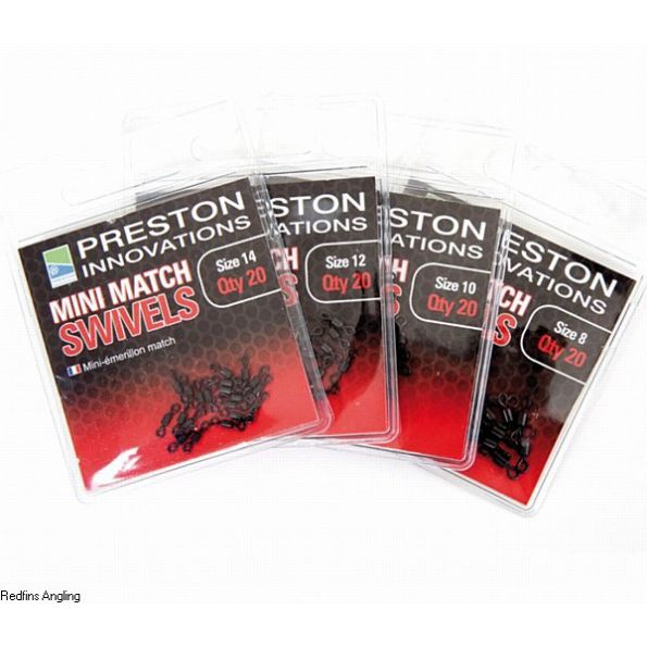 Preston Mini Emerillones nº8  (mini match swivels)