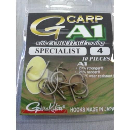 Gamakatsu G-carp Specialist Camo Marron Talla 4 10 unid