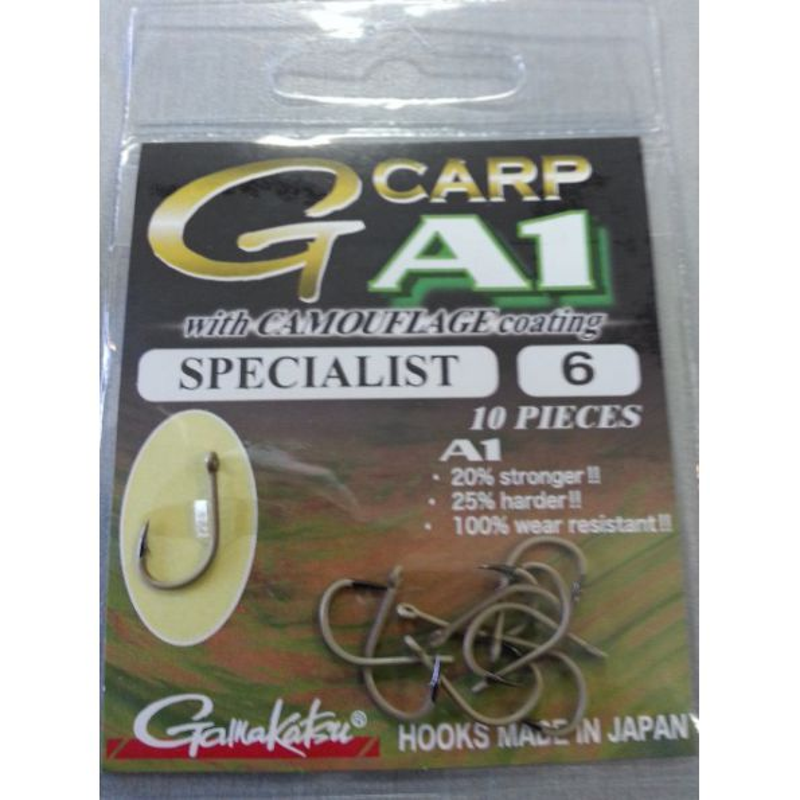 Gamakatsu G-carp Specialist Camo Marron Talla 6 10 unid