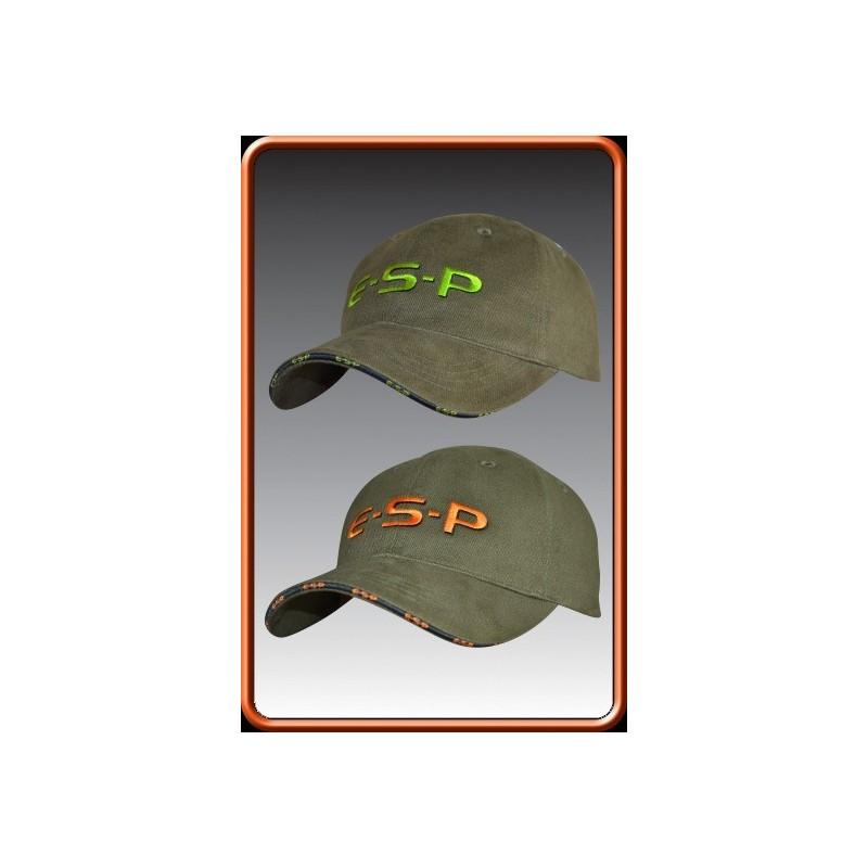 E.S.P Gorra verde logo naranja