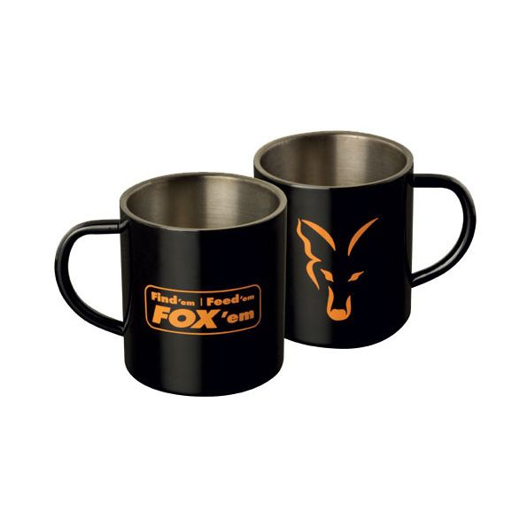 Fox Taza Inoxidable negra (Fox Stainless Steel Mug)