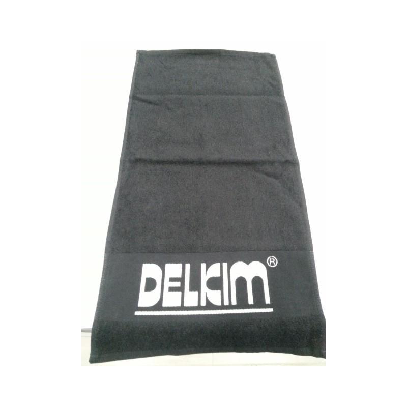 Delkim Toalla de mano Negra C/logo