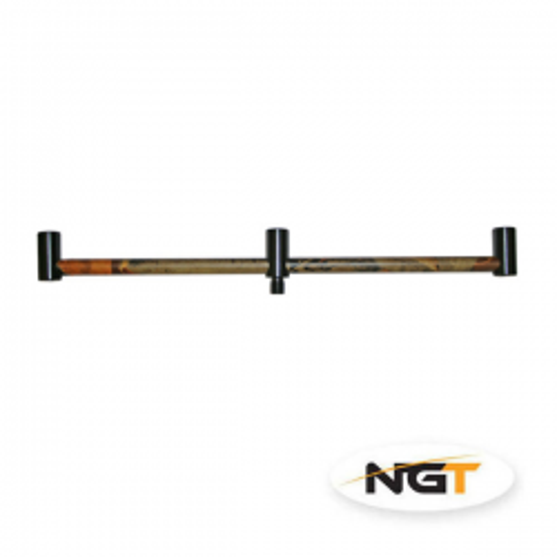 NGT Buzz Bar Aluminio, 30cm, 3 cañas , Color camuflaje