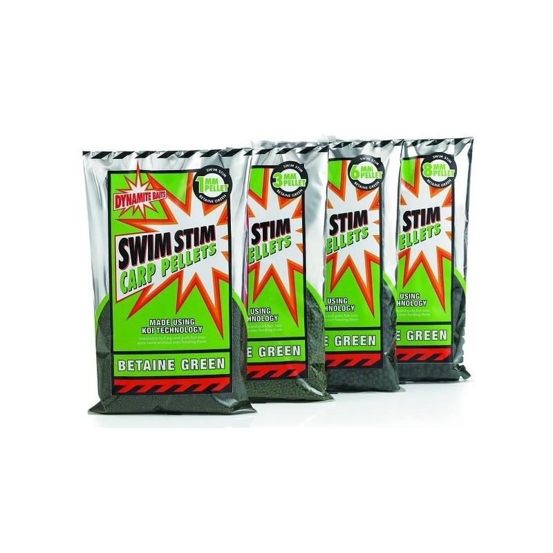 Dynamite Baits Pellet 6mm Swim Stim Betaine Green 900gr
