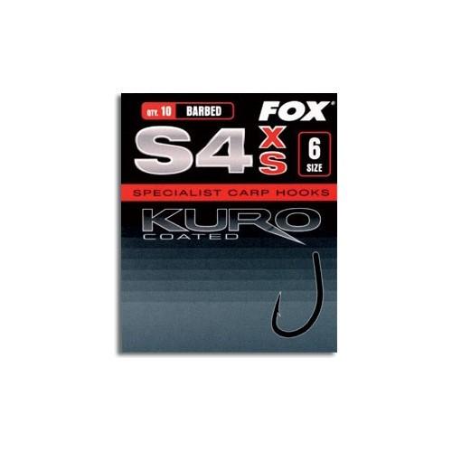 Fox Anzuelos S4 XS Kuro Talla 4 10unid