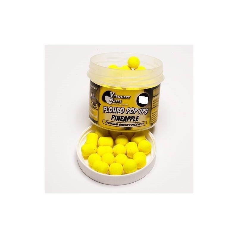 Velocity Fluoro Pop-ups 14mm Boilies&dumbells Pineapple(piña)