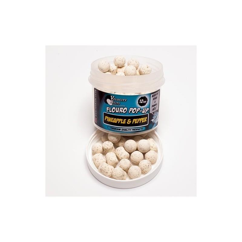 Velocity Fluoro Cork popups 16mm Boilies&dumbells Piña&Pimienta