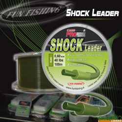 Fun Fishing Shock Leader kaki 0.60mm 40LBS 100m
