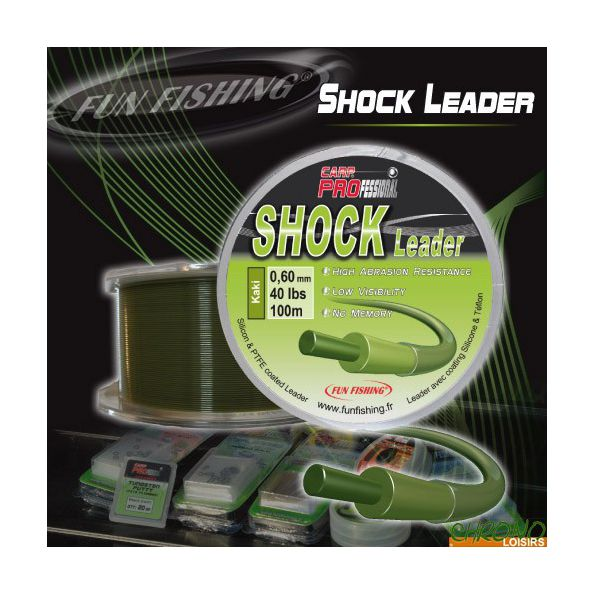 Fun Fishing Shock Leader kaki 0.50mm 30LBS 100m