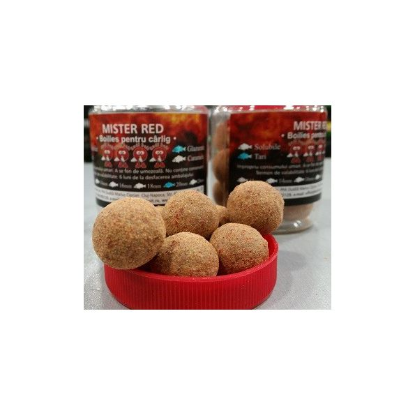 Dudibait Hook Boilies Mister red Glazurate duro 20mm 100gr