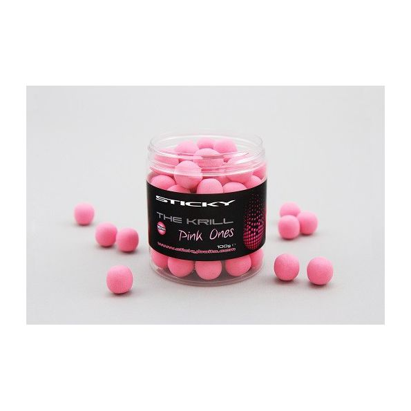 Sticky Baits BOILIES THE KRILL Flotantes Pink One 16mm 100gr