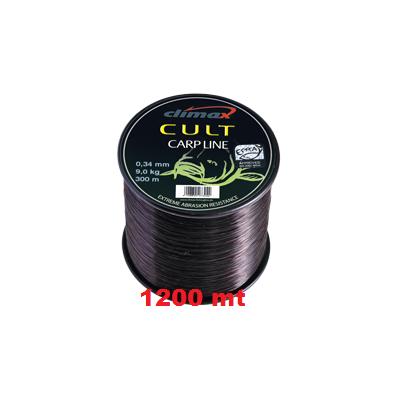 Climax CULT 0.38 mm Carp-Line Black 1200m