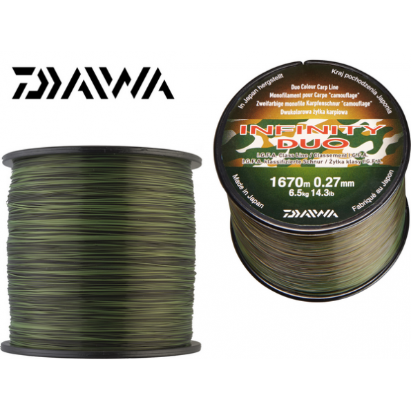 Daiwa Nylon 0,36mm 10,700 kg 840m duo Camo