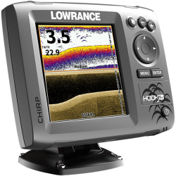 Lowrance Hook-5x Transductor Mid/High/DownScan 83/200+455/800