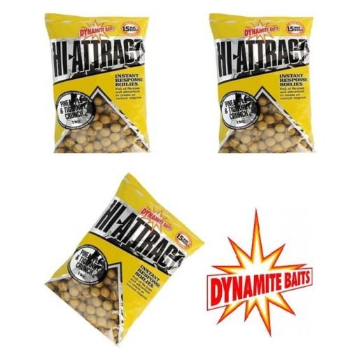 Lote 3 bolsas 1kg Dynamite Baits Boilie Pineapple&Tigernut 20mm