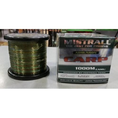 Mistrall Hilo camo Carp 1000mt 0.35mm 16.30kg