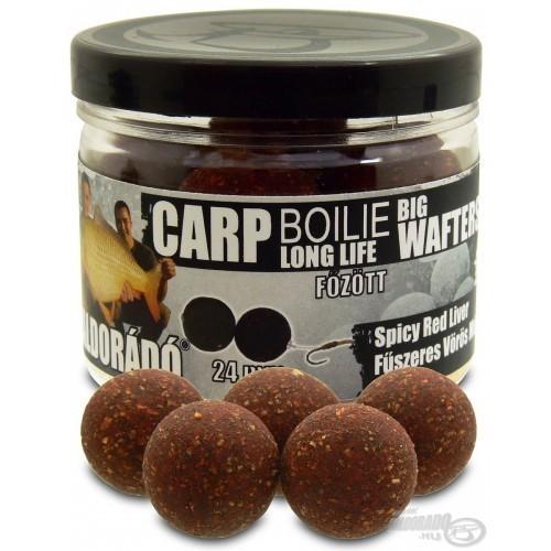 Haldorado Boilie 24mm Big Wafters Spicy red liver (Higado y Especias)