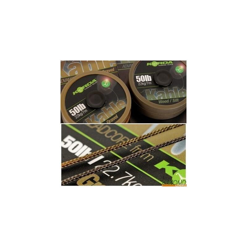 Korda Leadcore KABLE 50lb/22.7kg 7mt verde-gris