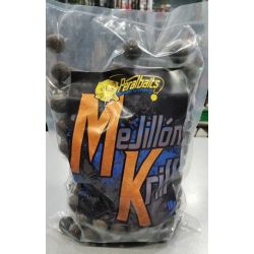 PERALBAITS Boilies 18mm Mejillon&Krill 1kg (congelados)