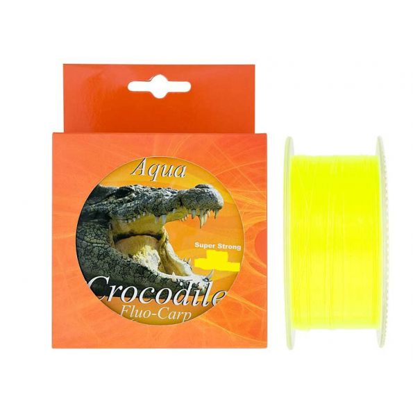 Aqua Crocodile Fluo-Carp 0.30mm 16kg Super strong