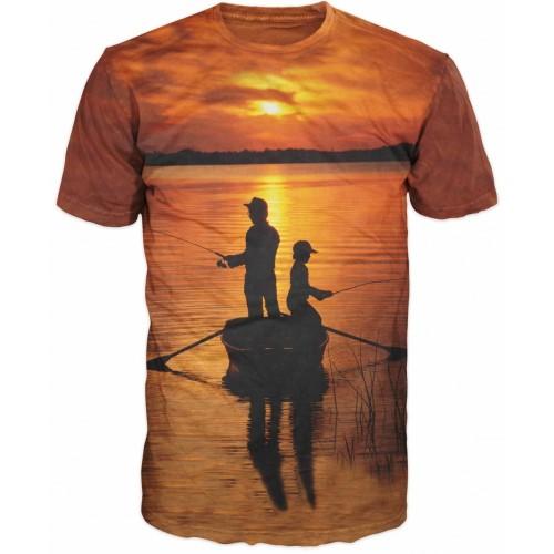 Carp T-shirt Camiseta Barca Padre-hijo