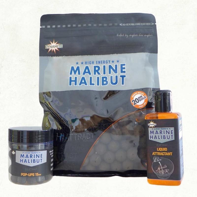 Dynamite Baits Boilie 20mm Marine Halibut Salt 1kg