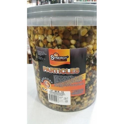 Synergy Cubo 5kg Mezcla semillas SY70 (Maiz,Cañamon,Arveja,Haba,Chufa)